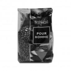 Italwax «POUR HOMME» (мужской) пленочный воск в гранулах (горячий) для депиляции (пакет 1кг.)