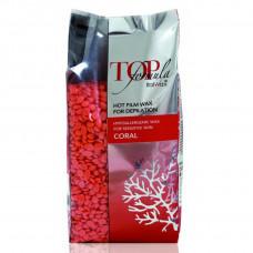Italwax Top Formula «Coral» (Коралл) пленочный воск в гранулах (горячий) для депиляции 750 гр.
