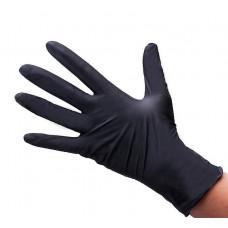 Italwax перчатки для депиляции неопудренные (ПВХ) размер «M», черные 50 пар (100 шт.)